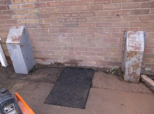 Reinstatement after repair of water leak @ Charfield Memorial Hall 020