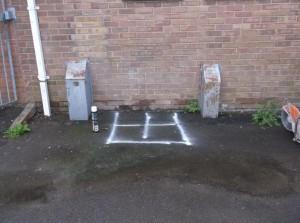 Water Leak located @ Charfield Memorial Hall 008